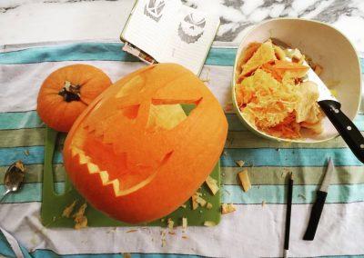 zucca intagliata halloween